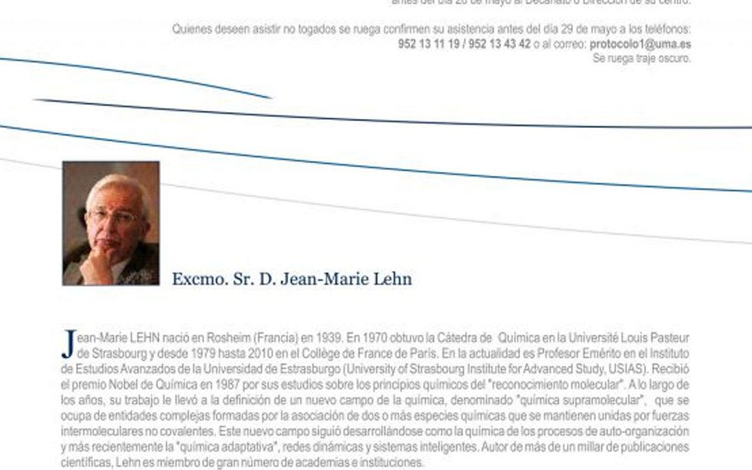 Acto de investidura del Excmo. Sr. D. Jean Marie Lehn